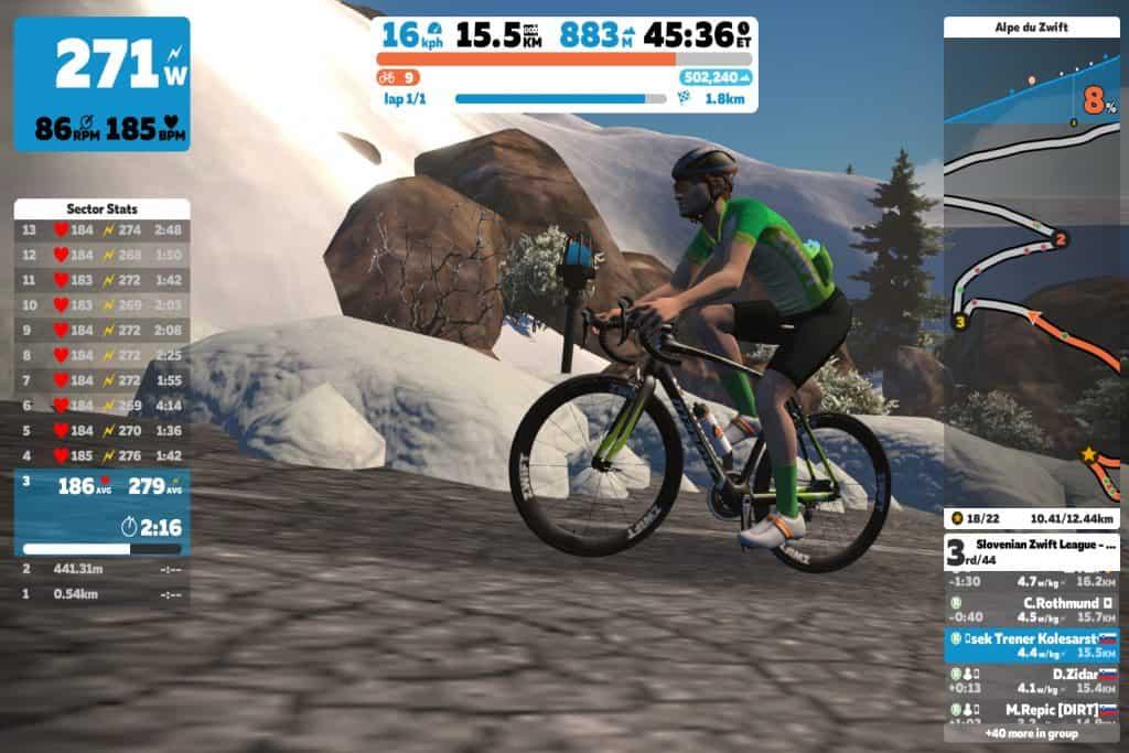 Alpe d huez virtualno kolesarjenje aleksej dolinšek