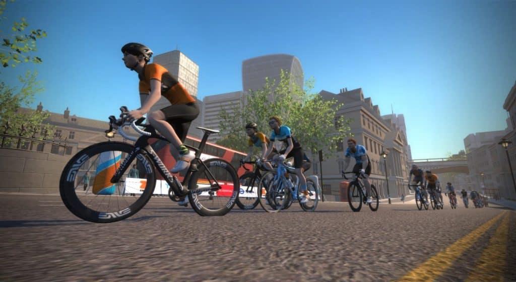 Virtualno kolesarjenje v ZWIFT simuliranem svetu - LONDON