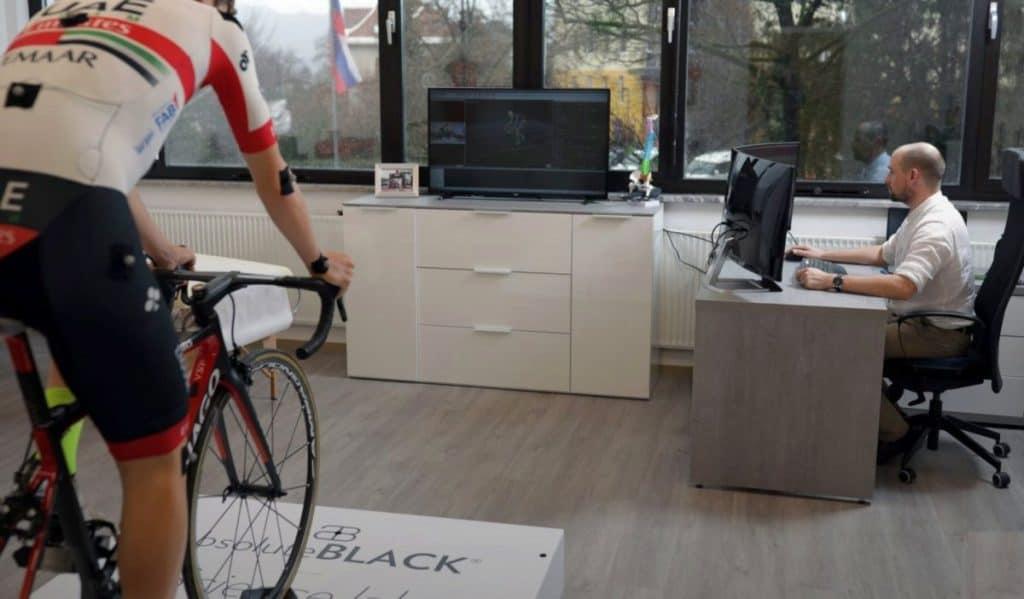 Tadej Pogačar bike fitting Borut Fonda sport performance